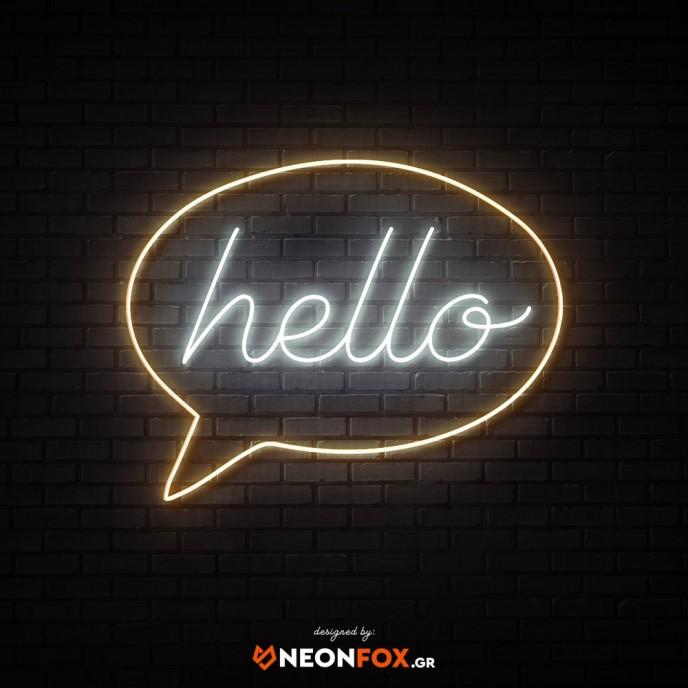 Hello Bubble - NEON LED Sign