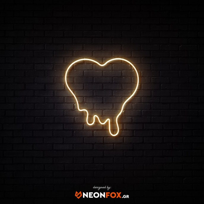 Melted Heart - NEON LED Sign
